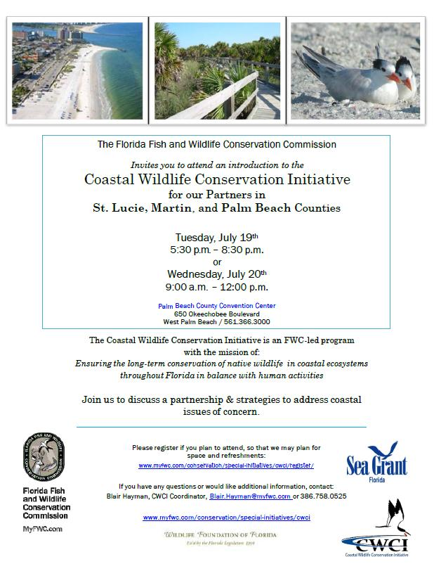 Fwc Announces Coastal Wildlife Conservation Initiative