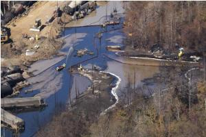 Oil train spill